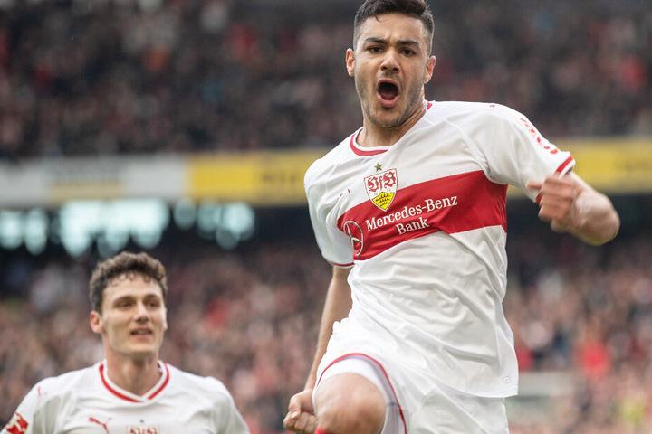 Youngster Ozan Kabak (r.) steht aktuell bis zum Sommer 2024 beim VfB Stuttgart unter Vertrag.