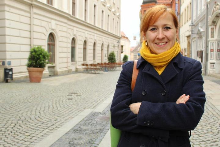 Franziska Schubert (37) von den Grünen liegt auf Platz drei.