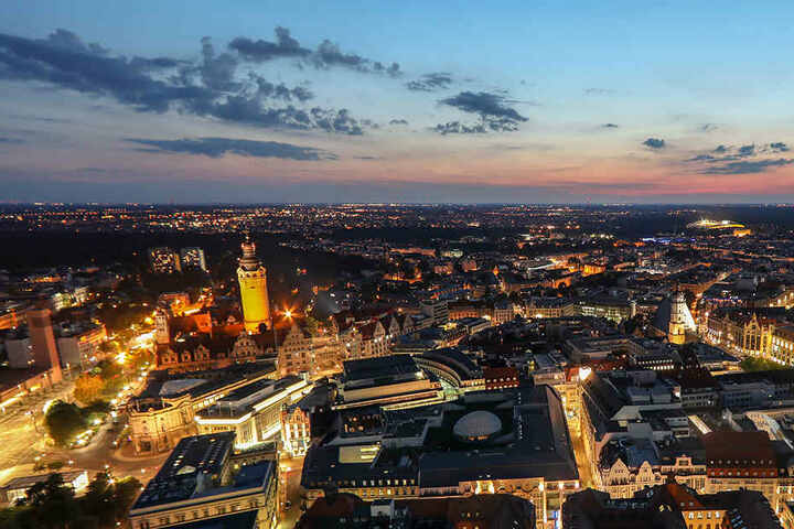 Leipzig am Abend: Eine Augenweide!