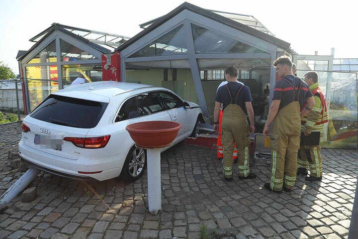 Die Feuerwehr der Wache Übigau beseitigte den Schaden.