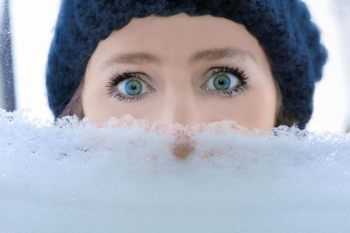 Die Nase im Schnee ist doch ganz schön kalt...