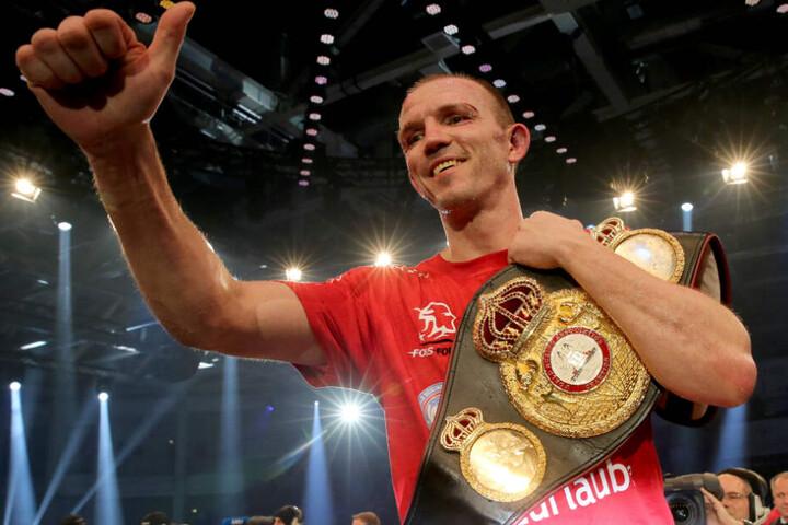 Den WBA-Titel im Halbschwergewicht holte sich Jürgen Brähmer im März 2016 in Neubrandenburg.