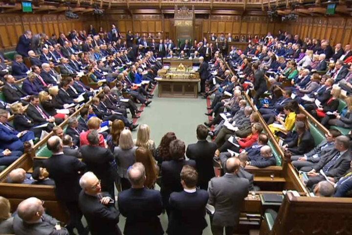 In der Fragestunde im britischen Parlament kam es am Mittwoch zu Tumulten.