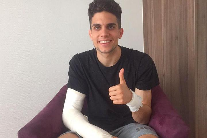 Marc Bartra wurde bei dem Anschlag schwer verletzt, lachte aber einen Tag später wieder tapfer.