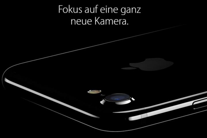 Das iPhone 7 im neuen Diamantschwarz und mit neuer Kamera.