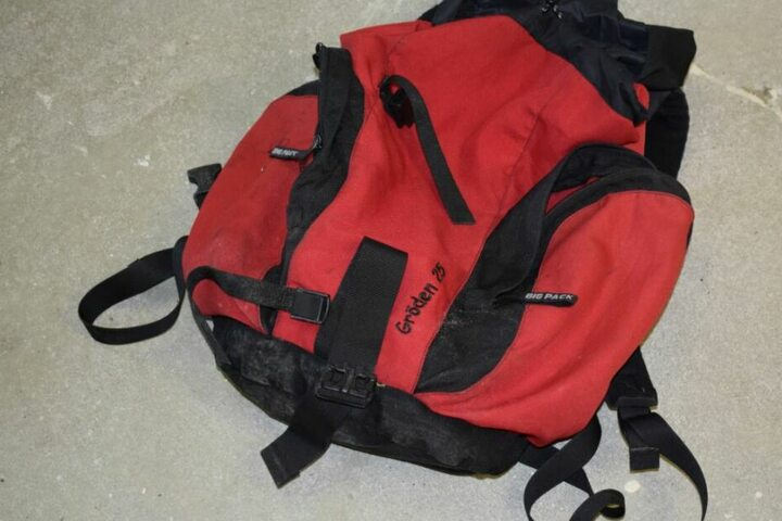 Auch ein Rucksack lag an der Fundstelle.