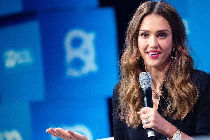 """Jessica Alba war am Montag auf der Gründermesse """"Bits & Pretzels"""" in München zu Gast."""