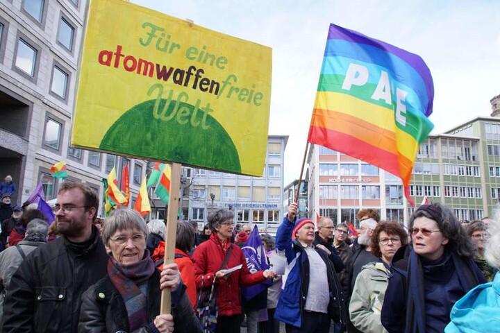 Auch gegen das atomare Wettrüsten wurde demonstriert.