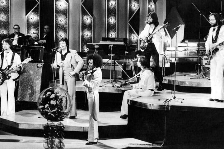 """Auftritt im Dezember 1978 mit der Gruppe """"Express"""". Dort war Tschernig (2.v.li.) rund ein Jahr  Mitglied."""