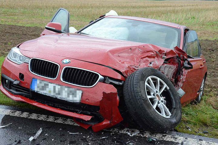 Auch am BMW entstand ein hoher Schaden.