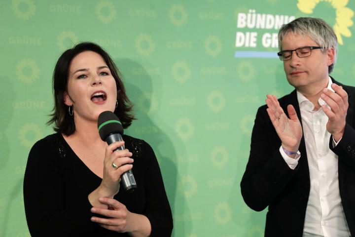 Annalena Baerbock von den Grünen schnitt mit der Bestnote eins ab.