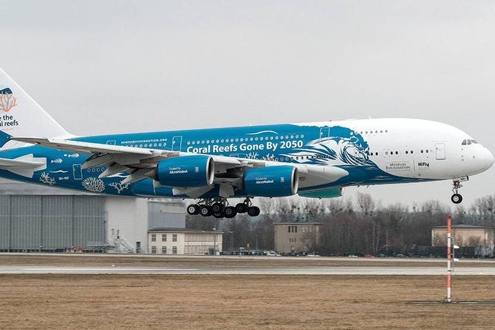 Hi Fly kennen die Dresdner durch den A380, der hier jüngst landete.