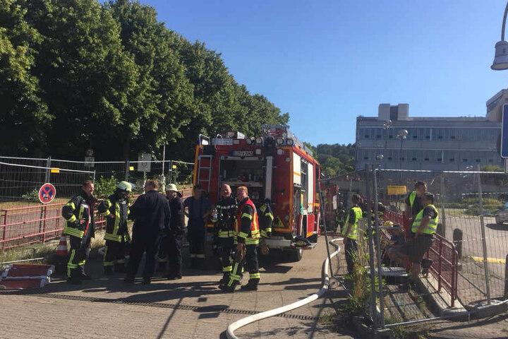 In einer Fahrstraße war der Brand ausgebrochen.