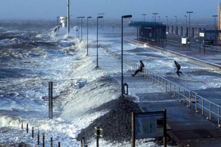 An der Nordsee werden schwere Sturmböen erwartet.