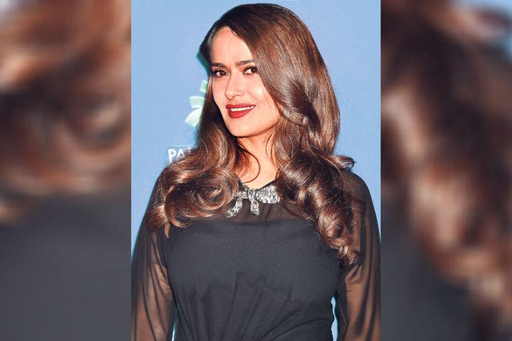 Auch Schauspielerin Salma Hayek wurde erst spät Mutter.