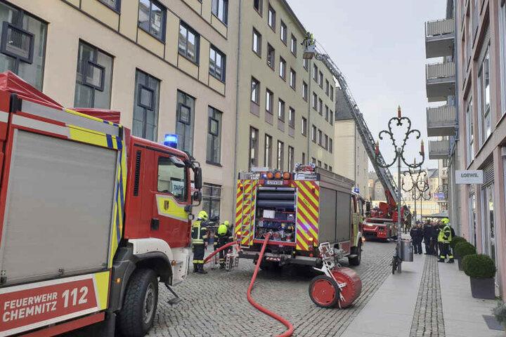 In der Börnichsgasse brannte es in einer Dachgeschosswohnung.