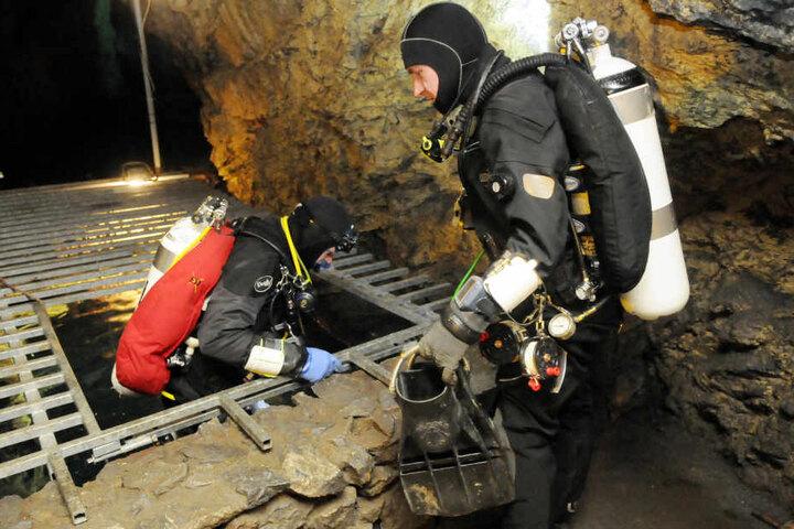 Taucher sollen bald die alten Bergwerksschächte erkunden.