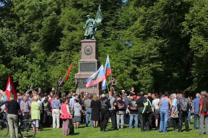 Das Sowjetische Ehrenmal am Dresdner Olbrichtplatz.