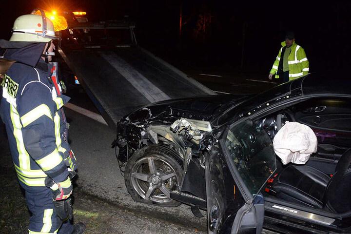 Die 47-jährige Mercedesfahrerin wurde bei dem Unfall nicht verletzt.