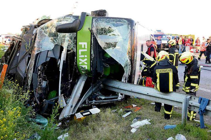 Die Italienerin hatte zum Unfallzeitpunkt ganz vorn oben im Bus gesessen.