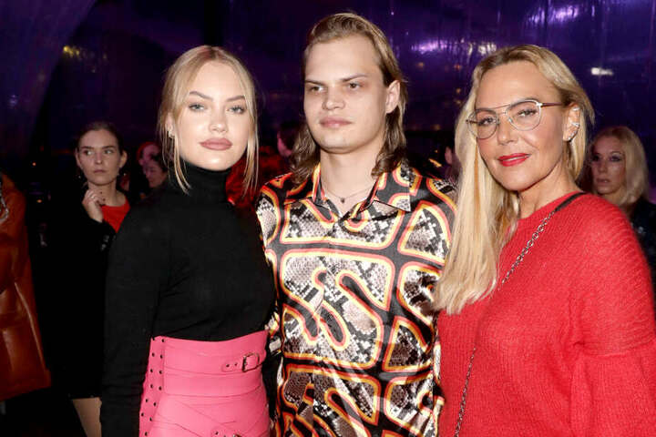 Natascha Ochsenknecht und ihre Kinder Cheyenne Savannah (19) und Wilson Gonzalez (29).
