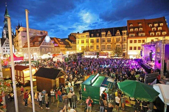 Die Eröffnung des Stadtfestes am Freitagabend auf dem Hauptmarkt.