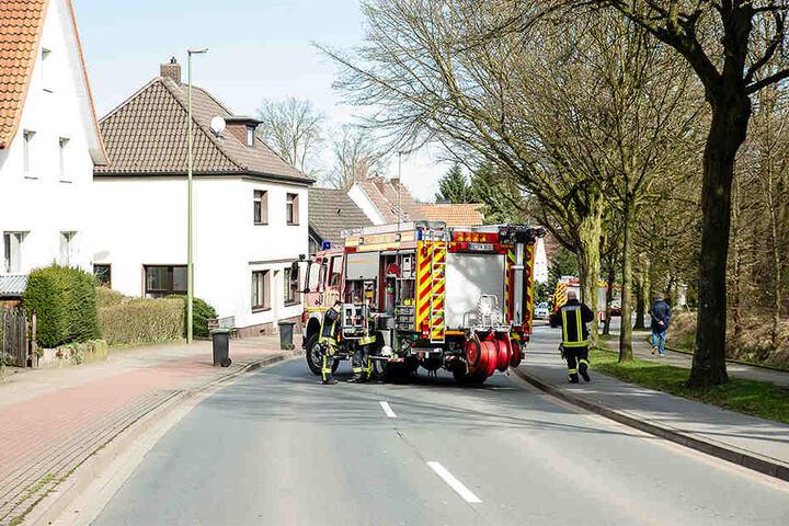 Die Engersche Straße war während des Einsatzes gesperrt.