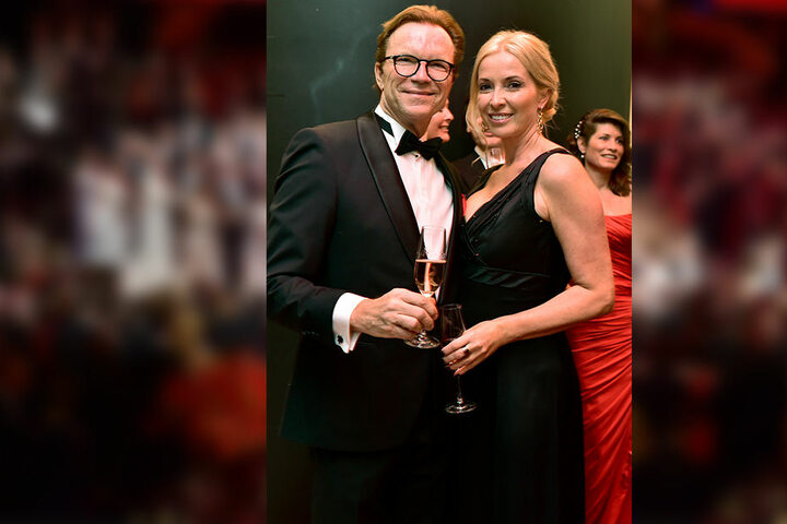 Wolfgang Lippert war zum zweiten Mal beim Opernball dabei, brachte diesmal seine Frau Gesine mit.