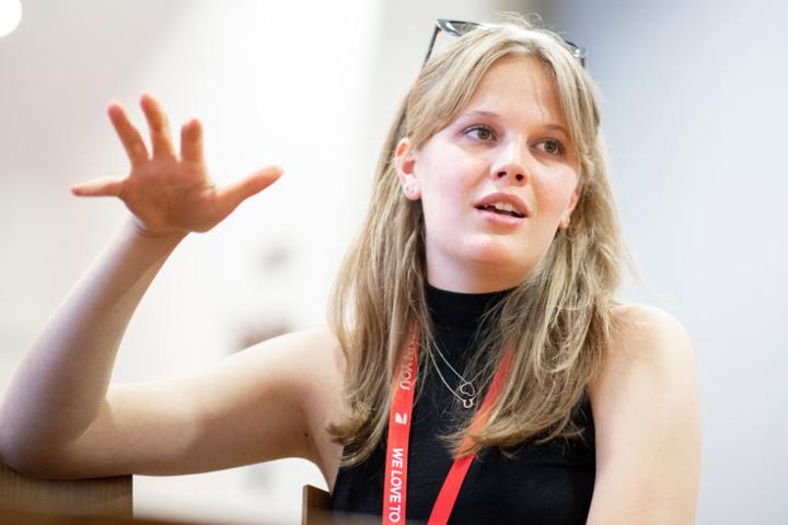 """Bei ihr hat Heidi """"sauviele Pluspunkte gesammelt"""": Studentin Pia."""