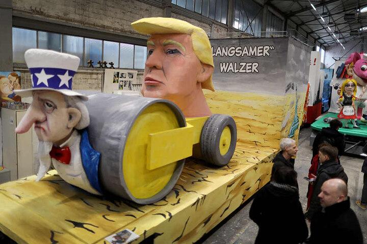 Das Thema Trump ist im Karneval weiterhin beliebt.