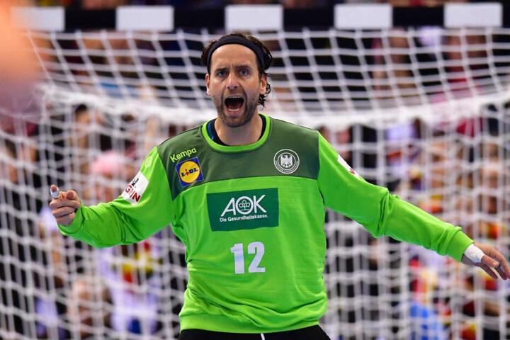 Handball-Nationaltorwart Silvio Heinevetter glaubt an die Köpenicker.