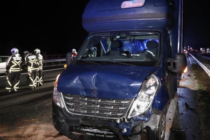 Das Wohnmobil war in den Unfall verwickelt.