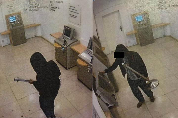 Gejza M. (32) in Aktion. Die Videoüberwachung zeigt, wie er mit der  Absperrsäule im Automatenraum randaliert.