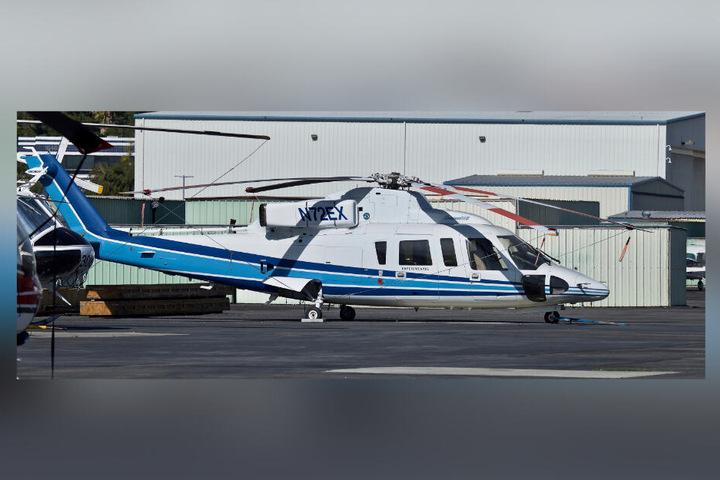 Ein Hubschrauber des Typs Sikorsky S-76B.