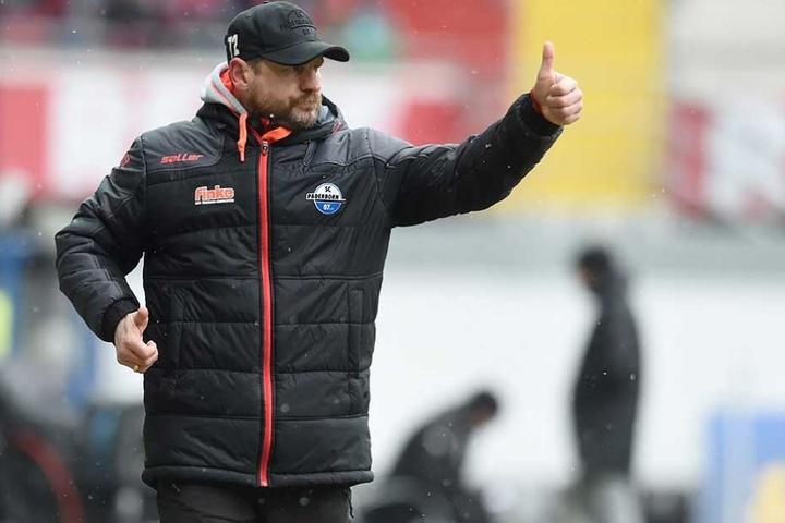 SC Paderborn-Trainer Steffen Baumgarten fand lobende Worte für den Gegner FSV Zwickau.