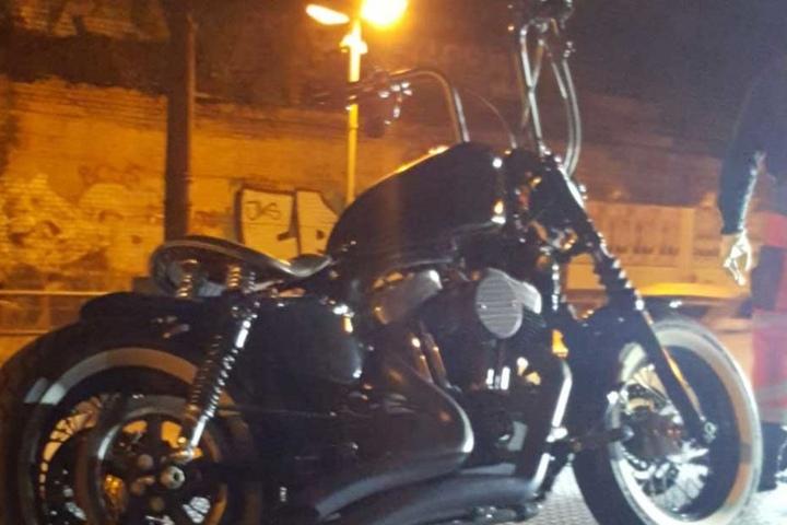 Auch diese Harley wurde aus dem Verkehr gezogen.