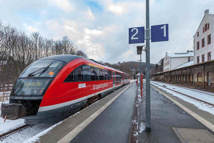 Auch die Erzgebirgsbahn setzt auf Diesel- und Stromantrieb. Seit 2013 testet  die Bahn-Tochter ihren EcoTrain.