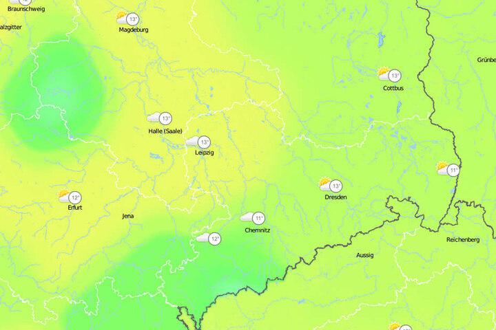 Mittel-und Ostdeutschland können sich auf zweistellige Temperaturen freuen.