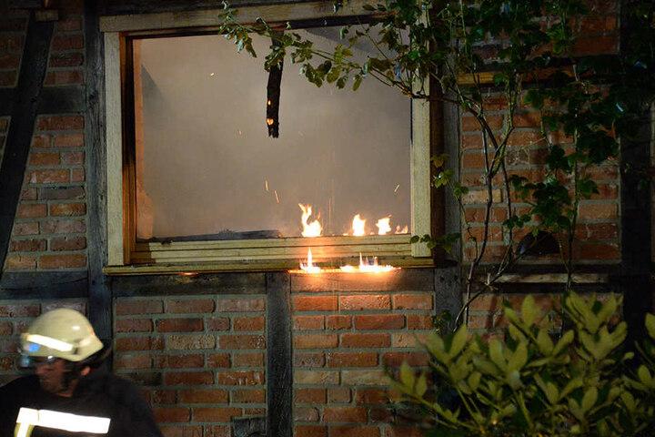 Die Bewohner waren zum Zeitpunkt des Feuers im Urlaub.