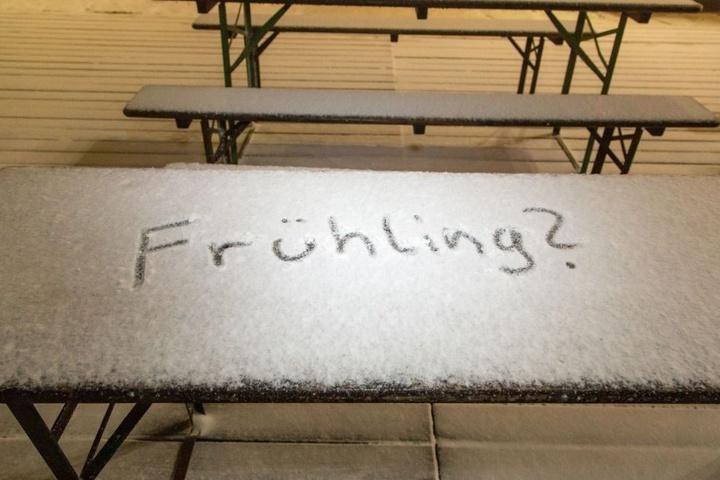 Der Frühling lässt in Sachsen noch auf sich warten.