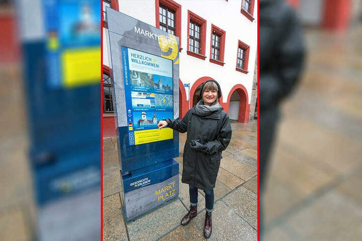 Im März weihte OB Barbara Ludwig (56, SPD) die erste Info-Stele auf dem Markt ein.