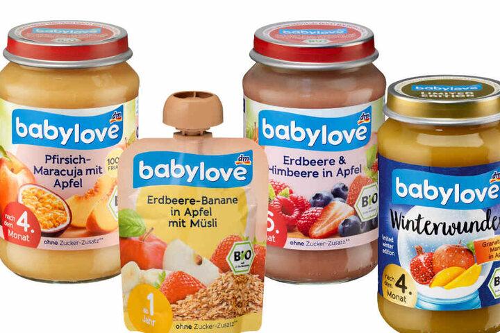 """Diese vier Artikel der dm-Marke """"babylove"""" werden zurückgerufen."""