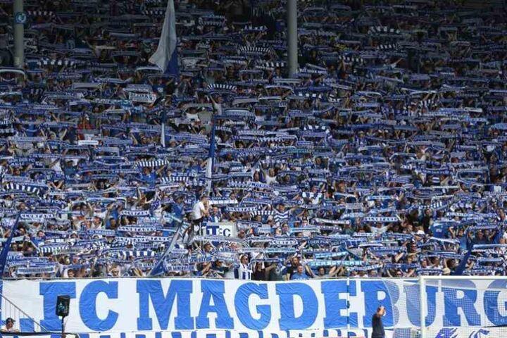Die Nordkurve im Stadion des 1.FC Magdeburg.
