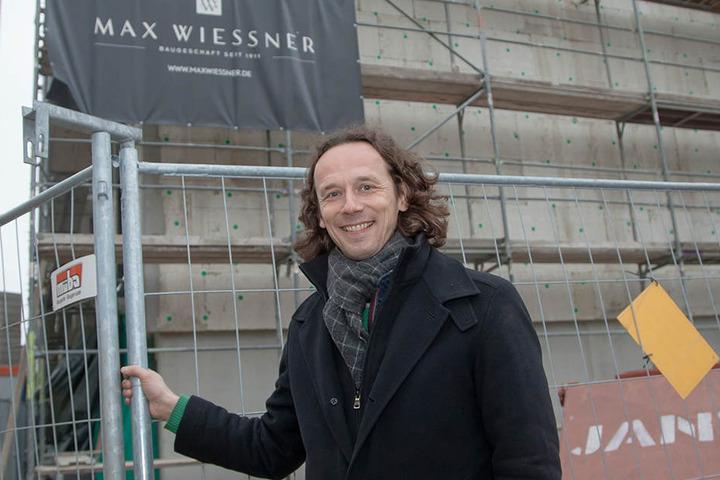 Der Dresdner Bauunternehmer Frank Wießner (43) ist einer von drei Investoren.