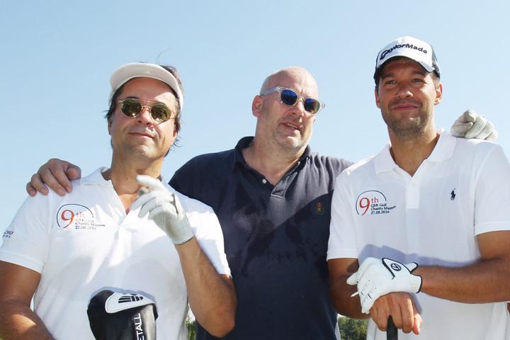 Neben Ex-Fussballer Ballack nahmen auch Schauspieler Jan Josef Liefers und Juwelier Jens Schniedenharn an dem Turnier teil.