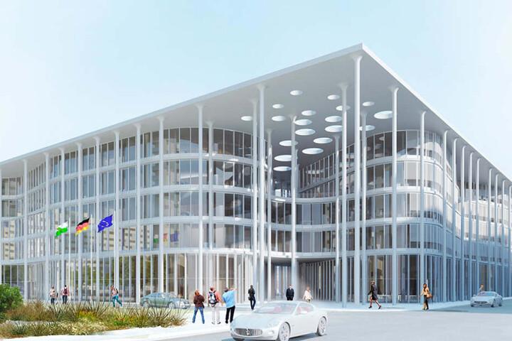 So soll der Glaspalast der Aufbaubank in Leipzig aussehen. Die Baukosten  können noch weiter steigen.