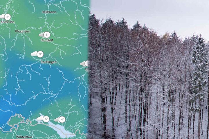 Die Schneefallgrenze sinkt auf 400 Meter.