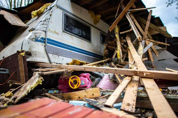 Die Unterkunft des Hauptbeschuldigten ist inzwischen abgerissen.