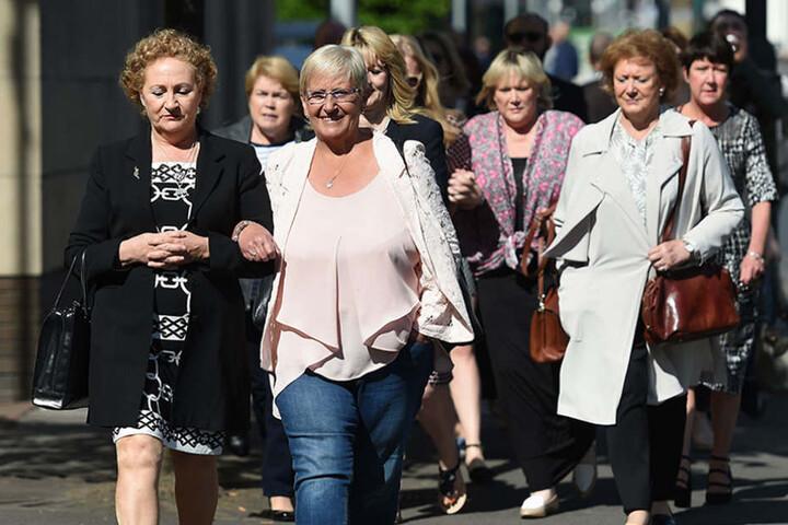 Zahlreiche Betroffene kamen zur Urteilsverkündung am Mittwoch.
