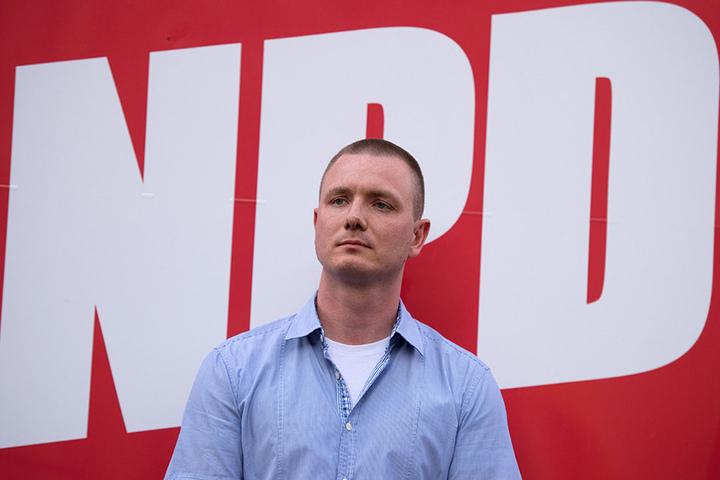 Jens Baur, Sächsischer NPD-Landeschef, unterstützte mit seiner Partei die Demo der Freien Aktivisten. Mit der AfD wollte er sich aber nicht verbrüdern.